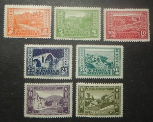 Albania 147-53. 1923 City Views, NH
