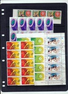 NAURU Christmas Rowland Birds Flowers Blocks MNH Used(Appx 250 Stamps)ZZ1583