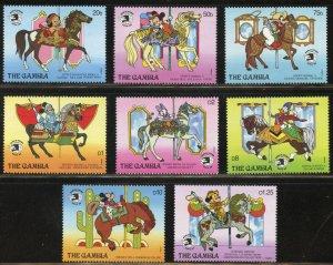 Gambia Scott 898-905 MVFNHOG - World Stamp Expo '89/Disney - SCV $16.90