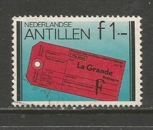 Netherlands Antilles   #458  Used  (1980)  c.v. $0.70