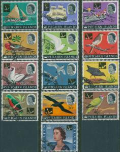Pitcairn Islands 1967 SG69-81 Boats Birds QEII set FU