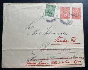 1917 Paraguay German Legion Cover To Buenos Aires Argentina