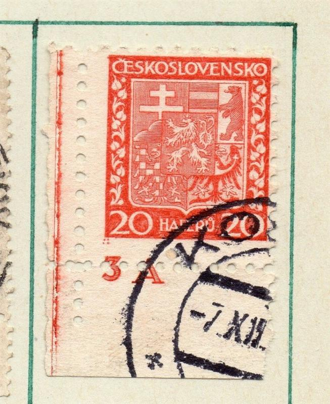Czechoslovakia 1929 Early Issue Fine Used 20h. Postmark Piece 230276