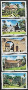 GB JERSEY 1986 JERSEY NATIONAL TRUST Set Sc 399-403 MNH
