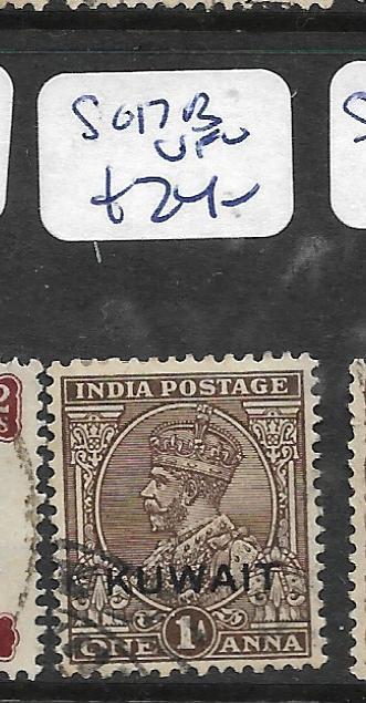 KUWAIT (P01003B)  ON INDIA KGVI  1A  SG 17B  VFU