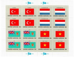 UN New York MNH 40 Flag Sheets Complete