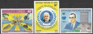 Congo 318-20  MNH UN Economic & Development Program