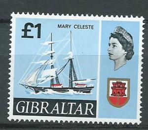 Gibraltar  SG 213   MUH