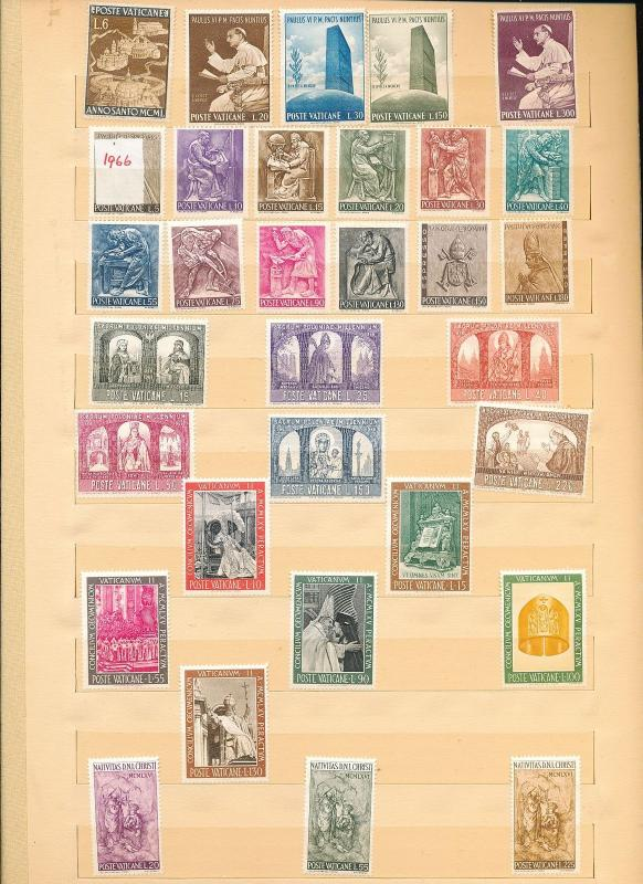 VATICAN 1970s Religion Pope Art MNH Collection Appx 120 Items (Au11194)