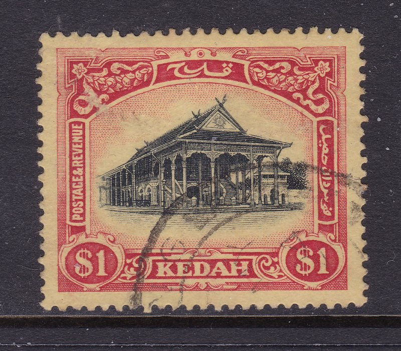 Kedah a good used $1 from the 1912 set (multi crown)