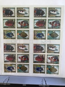 Manama Dependency of Ajman Fishes   cancelled  stamp sheet R27650