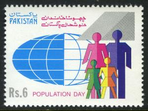 Pakistan 774, MNH. World Population Day. People, Globe, 1992