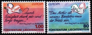 Liechtenstein. 1995. 1103-4. Europe, dove of peace. MNH.