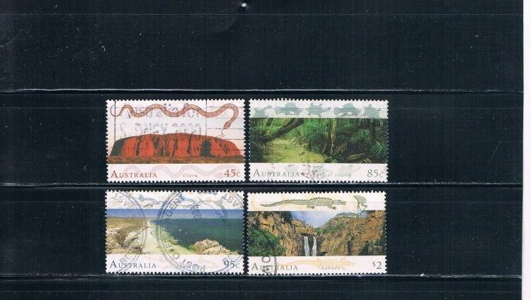 Australia 1311-1314 Used set Landscapes (A0002)