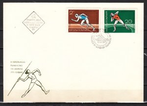 Bulgaria, Scott cat. 1927-1928. Track & Field, Sports issue. First day cover.^