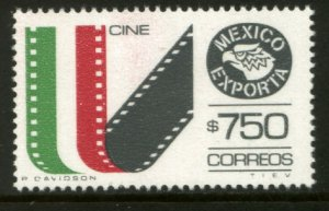 MEXICO Exporta 1586, $750P Film & Movies Fosforescent Paper 10. MINT, NH. VF.