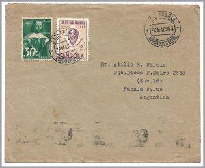 ANGOLA (Portugal) LUANDA/BRITO GODINS Commercial Cvr to Argentina - Religion