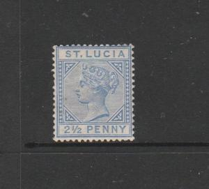 St Lucia 1891/8 Die 2, 2 1/2d MM SG 46, see notes