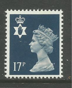 Northern Ireland GB 1990 QE2 17p Deep Blue Umm SG NI 44 ( F43 )