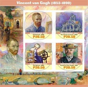 Stamps.Art Vincent Van Gogh Set 2 sheet perforated