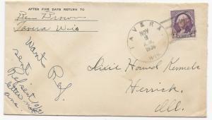US AD COVER Ben Brown Tavera, WI DPO Nov 3, 1936