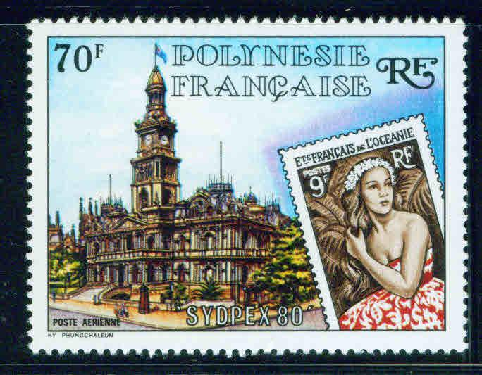 French Polynesia Scott C179 MNH** 1980 Sydpex stamp on stamp