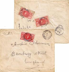 French Guinea 10c Faidherbe (2) and Senegal 10c Faidherbe 1911 Conakry, Guine...