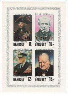 (I.B) Cinderella Collection : Bardsey Island - Heroes (Proof Sheet)