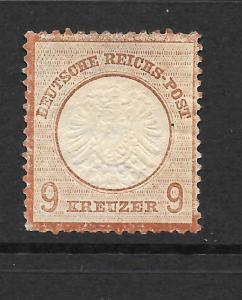 GERMANY  1872-74  9k  LARGE  SHIELD   MH   SG 27   Mi 27