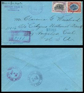 Goldpath: Guatemala cover, 1914, To Los Angeles CA USA, Registered, CV23_P13