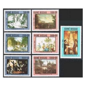 Guinea Bissau 803-809,810,MNH. PHILEXFRANCE-89.La Marseillaise by Francois Rude;