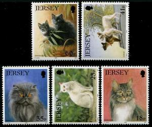 HERRICKSTAMP JERSEY Sc.# 661-65 1994 Cats