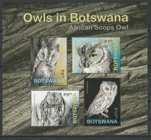 Botswana 2020 Birds, Owls MNH Block