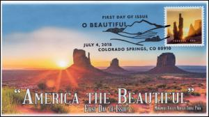 18-193, 2018, O' Beautiful, First Day Cover, Pictorial Postmark, Monument Valley