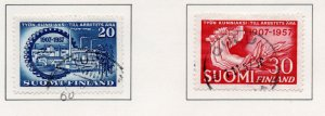 Finland Sc 347-48 1957 Employers & Trade Unions stamp set used