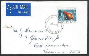 PAPUA NEW GUINEA 1972 cover ex MENDI.......................................48514