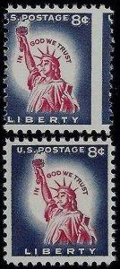 1042 -8c Misperf Error / EFO Statue Of Liberty Mint NH (Stk1)