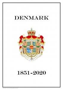 Denmark Danmark 1851 - 2020  PDF PDF(DIGITAL) STAMP ALBUM PAGES