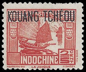 France Offices in China Kouang Tcheou 1937 #100 Mint HR