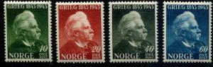 Norway SC# 255-8 Edvard Greig, Composer set MNH