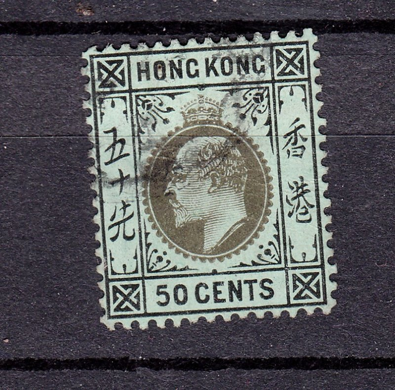 J28274 1904-11 hong kong used #101 king wmk 3