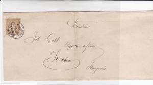 switzerland 1876 steckborn winterthur  stamps cover folded  ref r19653