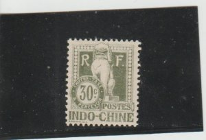 Indo-China  Scott#  J11  MH  (1908 Postage Due)