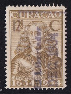 Netherlands Antilles  Curacao  #117  used  1934  anniv founding colony 12 1/2c