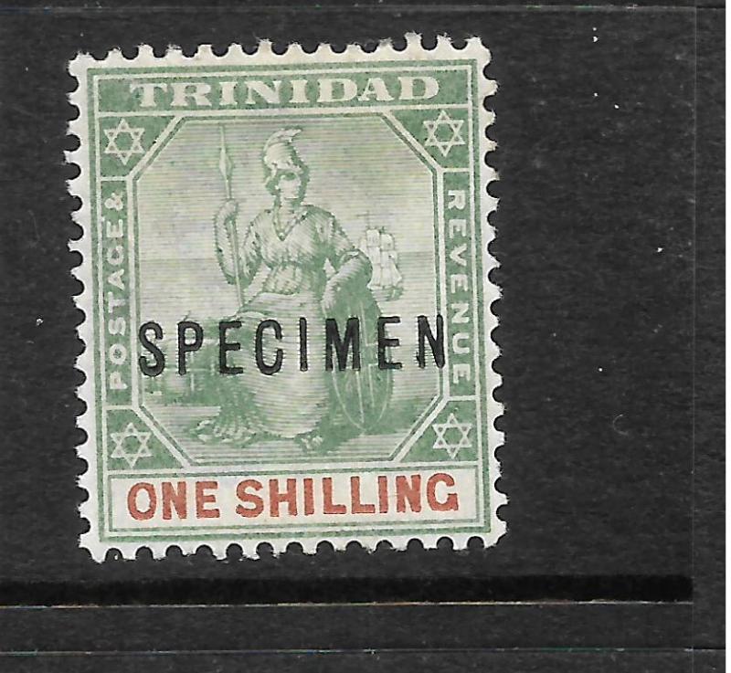 TRINIDAD  1896-06  1/-   BRITANNIA    MLH  SPECIMEN    SG 121s