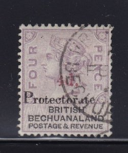 Bechuanaland Scott # 66 VF used neat cancel nice color cv $ 60 ! see pic !