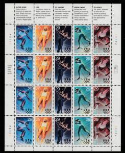 US Sheet of 20, Scott# 2807-11, MNH, US Olympics, , stored flat,