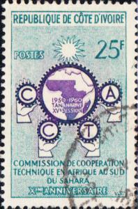 Ivory Coast #376 Used