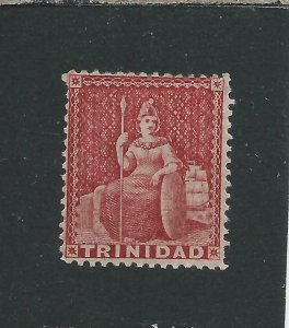 TRINIDAD 1863-80 (1d) ROSE-CARMINE PERF 14 MM SG 75b CAT £50
