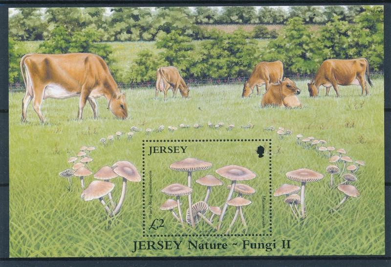 [57781] Jersey 2005 Mushrooms Pilze Champignons Cows MNH Sheet